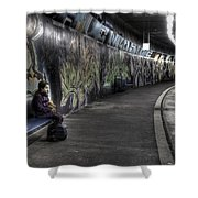 girl in station Shower Curtain by Joana Kruse