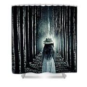 Girl In The Forest Shower Curtain by Joana Kruse