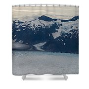Glacial Panorama Shower Curtain by Mike Reid