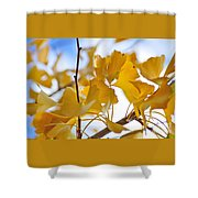 Golden Autumn Shower Curtain by Kaye Menner