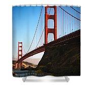 Golden Gate Bridge Sausalito Shower Curtain by Doug Sturgess