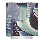 gondolas - Venice Shower Curtain by Joana Kruse