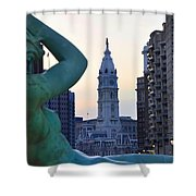 Good Morning Philadelphia Shower Curtain by Bill Cannon