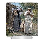 Goodwife Walford, 1692 Shower Curtain by Granger