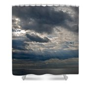 Gozo Skies Shower Curtain by Eric Tressler