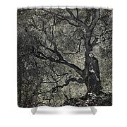 Grabbing Shower Curtain by Laurie Search