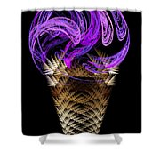 Grape Ice Cream Cone Shower Curtain by Andee Design