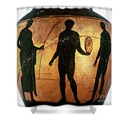 Greek Olympian Shower Curtain by Granger