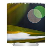 Green And Gold Abstract Shower Curtain by Dana Kern