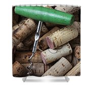 Green Corkscrew Shower Curtain by Garry Gay