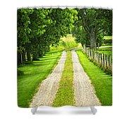 Green Farm Road Shower Curtain by Elena Elisseeva