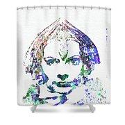 Greta Garbo Shower Curtain by Naxart Studio