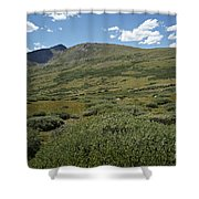 Guanella Pass Horizon Shower Curtain by Michael Kirsh
