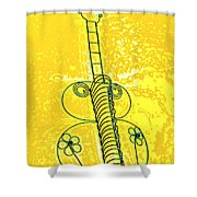 Guitar 2c Shower Curtain by Mauro Celotti