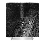 Guy Fawkes, English Soldier Convicted Shower Curtain by Photo Researchers