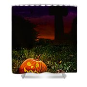 Halloween Cemetery Shower Curtain by Amanda Elwell