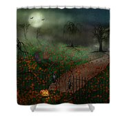 Halloween - One Hallows Eve Shower Curtain by Mike Savad