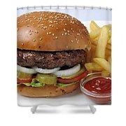 Hamburger  Shower Curtain by Ilan Amihai