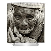 Hands Of Time Shower Curtain by Skip Nall