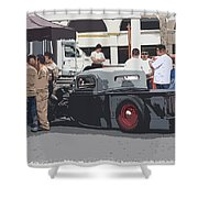 Hanging At The Car Show Shower Curtain by Steve McKinzie