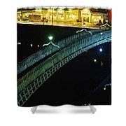 Hapenny Bridge, Dublin City, Co Dublin Shower Curtain by The Irish Image Collection