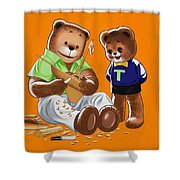Happy Fathers Day Shower Curtain by William Francis Phillipps