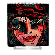 Happy Girl Shower Curtain by Natalie Holland