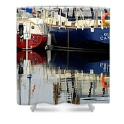 Harbor Reflections  Shower Curtain by Bob Christopher
