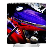 Harley Addiction Shower Curtain by Susanne Van Hulst