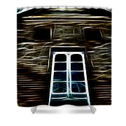 Haunted House Shower Curtain by Cheryl Young