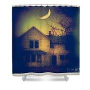 Haunted House Shower Curtain by Jill Battaglia
