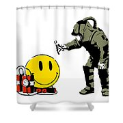 Have A Nice Day Shower Curtain by Pixel Chimp