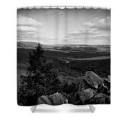 Hawk Mountain Sanctuary Bw Shower Curtain by David Dehner