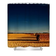 Hay Bales Shower Curtain by Cale Best