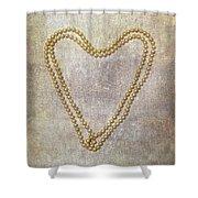Heart Of Pearls Shower Curtain by Joana Kruse