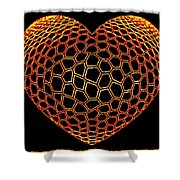 Heartline 9 Shower Curtain by Will Borden