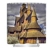 Heddal Stave Church  Shower Curtain by Heiko Koehrer-Wagner
