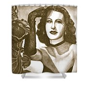 Heddy Lamar Shower Curtain by Debbie DeWitt
