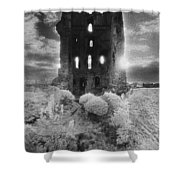 Helmsley Castle Shower Curtain by Simon Marsden