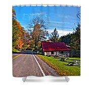 Helvetia Wv Painted Shower Curtain by Steve Harrington