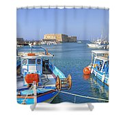 Heraklion - Venetian Fortress - Crete Shower Curtain by Joana Kruse