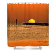 Hiding Sun Shower Curtain by Sun Travels