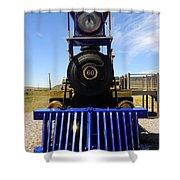 Historic Jupiter Steam Locomotive Shower Curtain by Gary Whitton