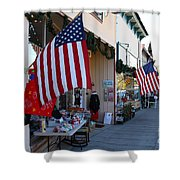 Historic Niles District In California Near Fremont . Main Street . Niles Boulevard . 7d10692 Shower Curtain by Wingsdomain Art and Photography
