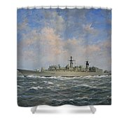 H.m.s. Chatham Type 22 - Batch 3 Shower Curtain by Richard Willis