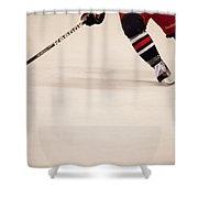 Hockey Stride Shower Curtain by Karol Livote