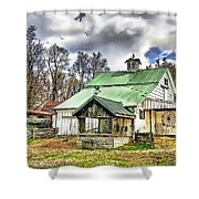Holmes County Farm Shower Curtain by Tom Schmidt