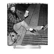 Homeless With Faithful Companion Shower Curtain by Kristin Elmquist