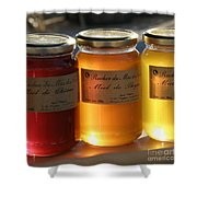 Honey Shower Curtain by Lainie Wrightson