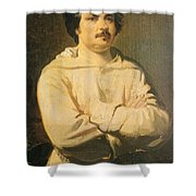 Honore De Balkzac, French Author Shower Curtain by Photo Researchers